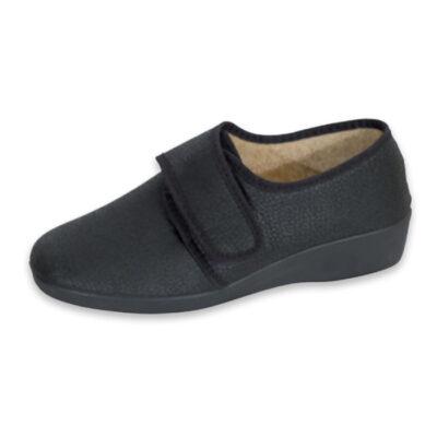 Μοκασίνι Γυναικείο Velcro Μαύρο