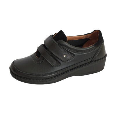 Παπούτσι Γυναικείο Αυτοκόλλητο Μαύρο